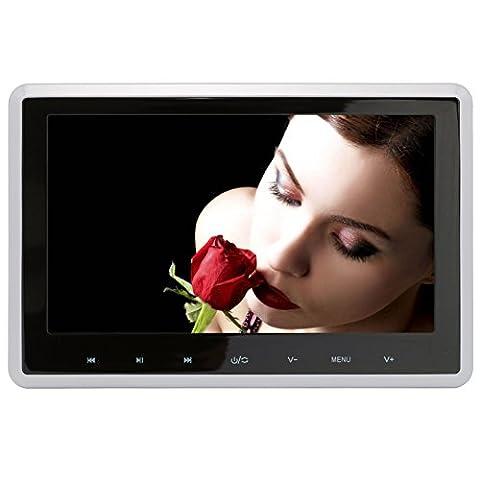 DDAUTO DD101HD 10.1 Pouces Appui-tête Lecteur DVD 1080P TFT Screen Monitor Multimédia Lecteur Supporte HDMI USB Carte SD avec Gamepad Télécommande Deux Supports