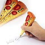 kingken 2Pcs Fun Creative Pizza Form Kugelschreiber Pizza Schreibwaren für Studenten