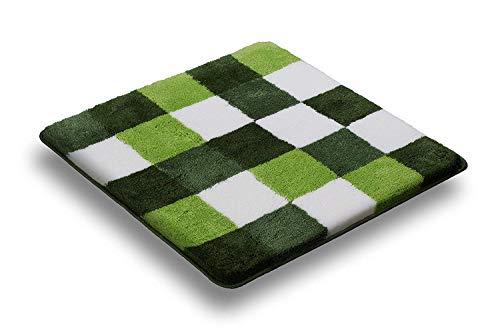 Belito Karo Luxus Badteppich, Grün, Microfaser, grün, 80x140 XL Bath Mat/Rug