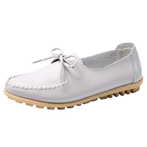 Clacce Freizeitschuhe Damen Schuhe Sneaker Bootsschuhe Freizeit Frauen Bogen Runde Zehe Normallack Schuh Flache Einzelne Schuh Erbsen Bootsschuhe