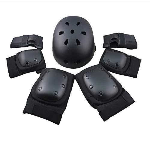 Erwachsenen-Helmset Kinder Outdoor Sports einstellbare Schutzausrüstung 7-teiliger Helm für Roller/Twist Cars/Rollschuhe/Skateboards (S, M, L),S