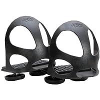 Steigbügeleinlage mit Durchrutschschutz 1 Paar = 2 Stück   Durchrutschschutz Steigbügel für Erwachsene schwarz Sicherheitssteigbügeleinlage mit Kappe