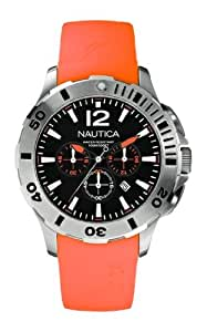 Nautica Herren-Armbanduhr Chronograph resin orange A16567G
