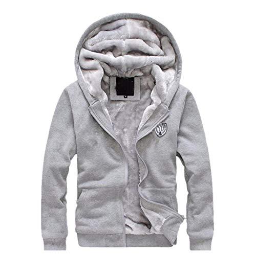 Cappotto uomo, uomogo giacca di cappotto degli uomini outwear sweater felpa sottile invernale felpa con cappuccio caldo + pantaloni