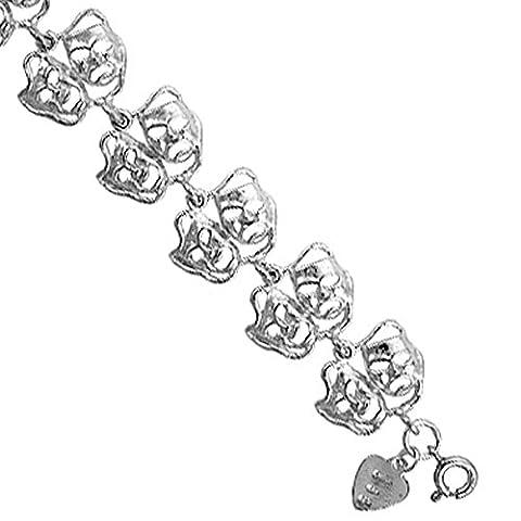 Bracelet à breloques en argent Sterling avec Motif masques de théâtre comédie/tragédie (Import Allemagne)