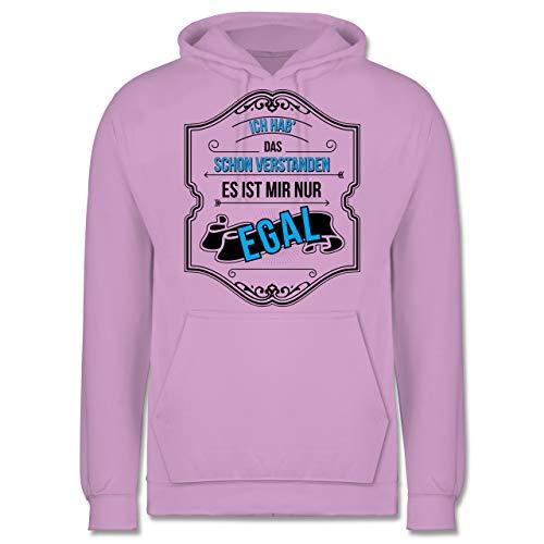 Statement Shirts - Ich hab das Schon verstanden ist Mir nur egal - XS - Lavendel - JH001 - Herren Hoodie und Kapuzenpullover für Männer