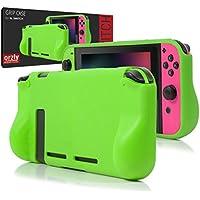 Funda Orzly Comfort Grip Case para la Nintendo Switch – Carcasa protectora con puños de mano rellenos integrados para la parte posterior de la consola Nintendo Switch en su Modo GamePad - VERDE