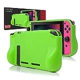 ORZLY® Funda Comfort Grip Case para la Nintendo Switch – Carcasa protectora con puños de mano rellenos integrados para la parte posterior de la consola Nintendo Switch en su Modo GamePad - VERDE