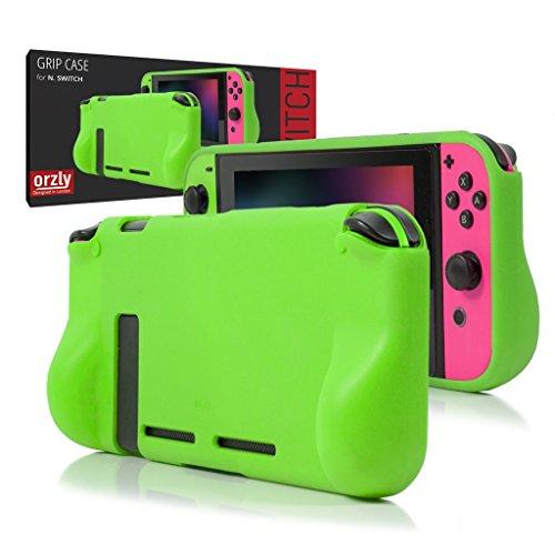 ORZLY® Comfort Grip Case für Nintendo Switch - Schutzhülle für den Einsatz auf der Nintendo Switch Console im Handheld Gamepad-Modus mit integrierten Komfort gepolsterten Handgriffen - GRÜN