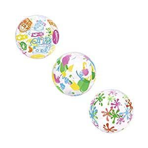 Bestway-31036 Pelota Hinchable Playa Decorada 51cm, (31036000)