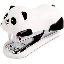 drawihi papel Alcantarillado oficina Metal Papel libro Mini grapadora Cute Panda Look para 12pcs papeles