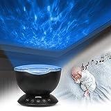 Junkai Ocean Wave Projector - Undersea Lampada per proiettore - Lettore Musicale - Proiettore per Luce Notturna per Bebè Bambini Camera da Letto per Adulti Decorazione Soggiorno