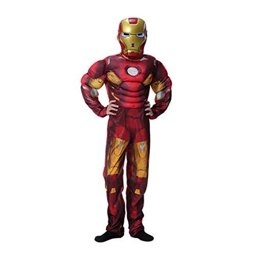HYYSH Halloween Film Cartoon Anime Dress Up Cosplay Außergewöhnlicher Held Gedruckt Avengers Held Cosplay Kostüm Iron Man Kostüm (größe : Child L) (Cartoon Halloween-kid Filme)