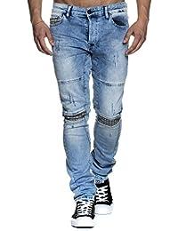 Tazzio 16524 Pantalon stretch en jean pour homme Coupe slim