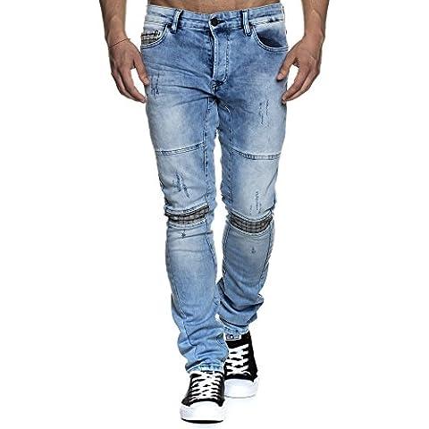 Tazzio Slim Fit uomo Stretch pantaloni Jeans Denim 16524