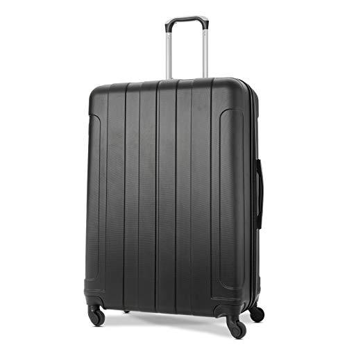 EONO Essentials Valise ABS Rigide Légere à 4 roulettes, Grande 81cm, 126L, Noir