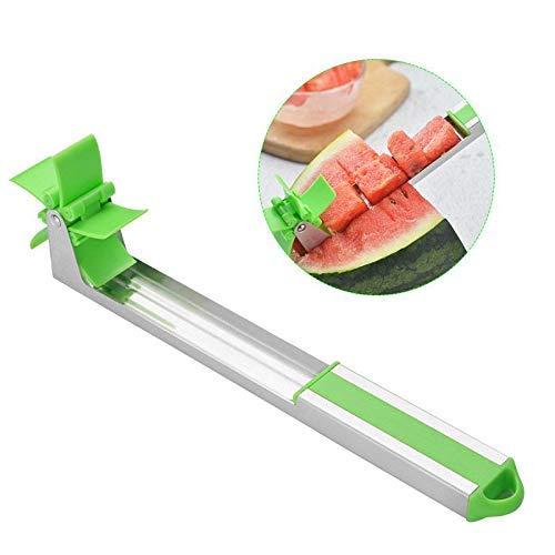 Huisheng anguria affettatrice, mulino a vento taglia anguria multiuso cucina anguria affettatrice veloce e facile da usare, taglierina per il taglio della frutta