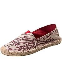 Unisex El Verano Zapatos Casuales Zapatos Planos Pareja Zapatos Cabeza Redonda Color Caramelo Raya Color De