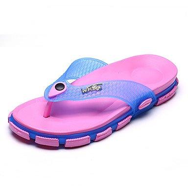 RTRY Pantofole Unisex &Amp; Flip-Flops Comfort Suole Luce Pvc Estate Autunno Casual Comfort A Piedi Luce Suole Piatte Chiodati Heelroyal Luce Blu US6.5-7 / EU37 / UK4.5-5 / CN37