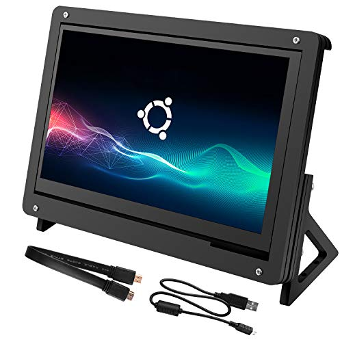 Kuman 7 inch Capacitive Touch Screen HDMI Monitor 800x480 HD TFT LCD  Display with Acrylic Case Holder for Raspberry Pi 3B+ / A / A+ / B / B+ /Pi  3 /Pi