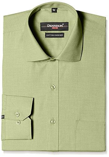 Dennison Men's Formal Shirt (SS-16-157_40_Light Green)