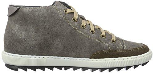 Rieker M8441, Sneakers Hautes Femme Gris (Nubia/Bisam/Altsilber/45)