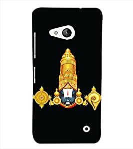 Fiobs Designer Phone Back Case Cover Microsoft Lumia 550 ( Shri Balaji Trirumala Govinda )