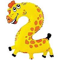 HuntGold Globo de la hoja globo del cumpleaños número lámina de helio del globo formulario número 19 Pulgadas -- 2