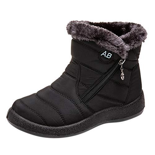 ➤Refill➤Damen Winter Schneeschuhe Wasserdicht Anti-Rutsch Stiefeletten Draussen Warm Fell Gefüttert Schuhe Winterschuhe Winter Kurzschaft Stiefel Boots