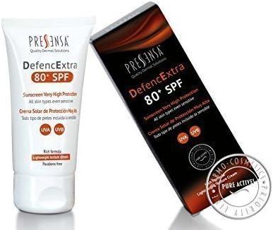 DefencExtra 80 SPF Crema solar de protección muy alta con filtros solares UVA/UVB
