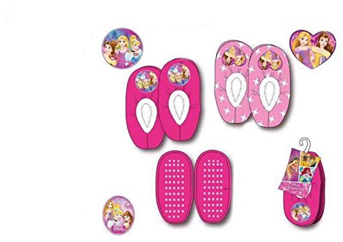 Chaussons Elastique Enfant Fille DISNEY PRINCESS en Fuchsia HQ0673