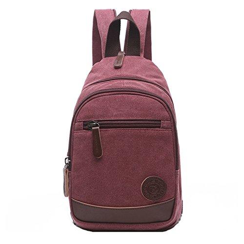 a7b171485a ... Bag per Studenti Rosso. Outreo Donna Zaino Scuola Borsa Moda Casual  Daypack Zaini Firmate Borsetta Viaggio Backpack Università Borsello Vintage