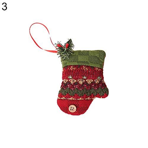 Gmgqsago calze di natale albero ornamento bagagliaio cane ciondolo a forma di stelle party decor xmas gift–albero gloves#