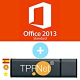 MS Office 2013 Standard 32 Bits y 64 Bits - Clave de Licencia Original con una Memoria USB de - TPFNet
