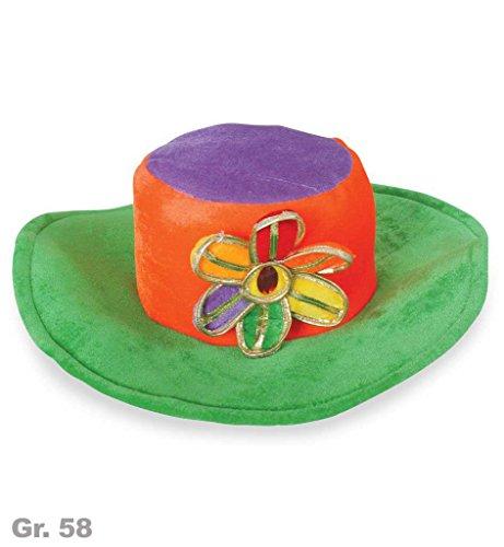 Hippie-Hut, sortierte Farben, Gr. 58 cm, Karneval, Mottoparty, Accessoire, Fasching (58, (Kostüme Jahre 60er Jungs Für)