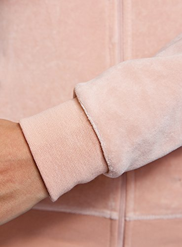 oodji Ultra Damen Kapuzenpullover mit Reißverschluss Rosa (4B00N)