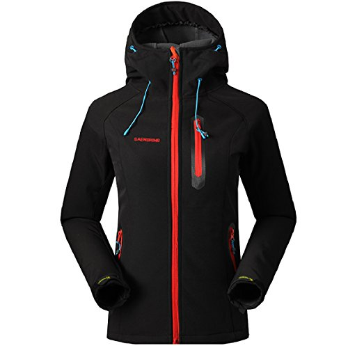 SAENSHING Mujer Softshell Chaqueta Deportiva Impermeable