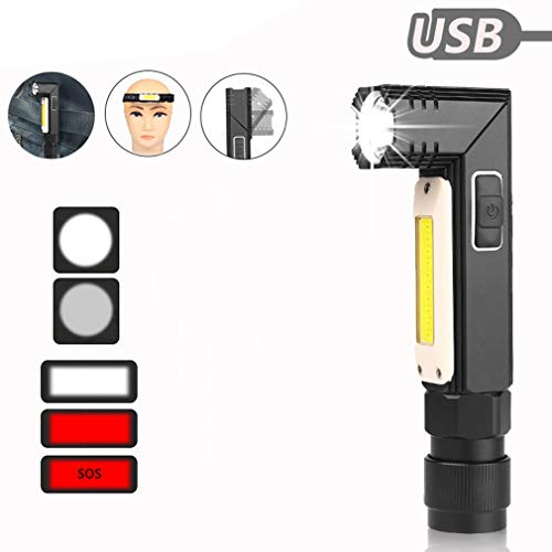 Linterna USB, 1000LM ultra brillante lámpara trabajo