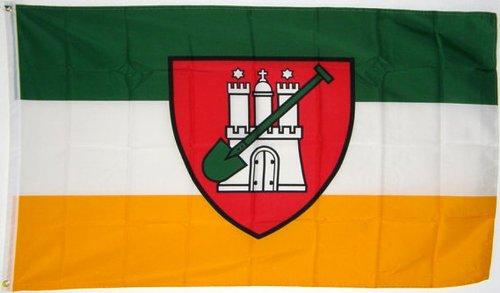Qualitäts Fahne Flagge Hamburg Garten 90 x 150 cm mit verstärktem Hissband