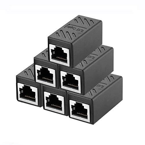 6 Stück RJ45 Ethernet Kabel Verbinder,Kupplung Netzwerk Verbinder Ethernet Koppler Adapter kompatibel mit Cat7 Cat6 Cat5 Cat5e für Netzwerkkabel,Ethernet Kabel,Patchkabel -