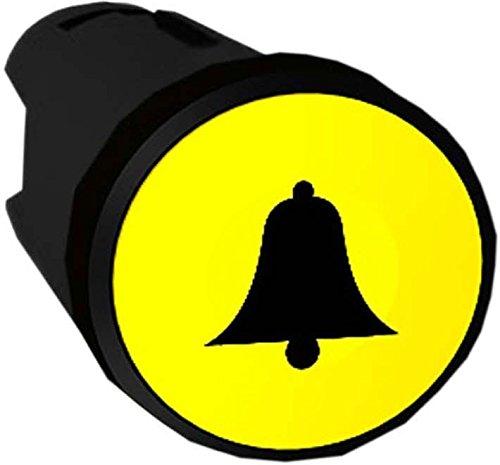 Flache Glocke (Schneider ZB5AA551 Frontelement rund für Drucktaster, ohne Rastung, flach, Glocke, Gelb, durchmesser 22 cm)