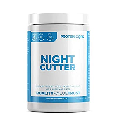 Night Cutter Fat Burner Tablets - Fast Weight Loss Tabs - Non-Stimulant - Lose Weight Pills + Improve Tone - L-Carnitine - CLA - Irvinga Gabonensis - Theanine - Magnesium - Protein Core by Protein Core
