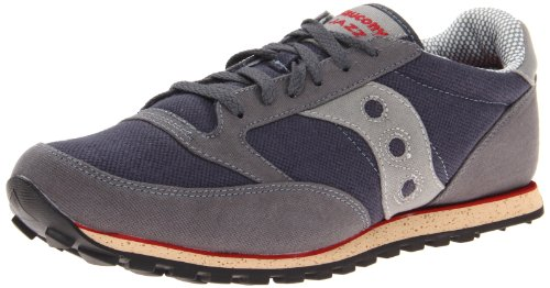 Saucony Originals Men's Jazz Low Pro Vegan-M, Grey/Red, 9 M US