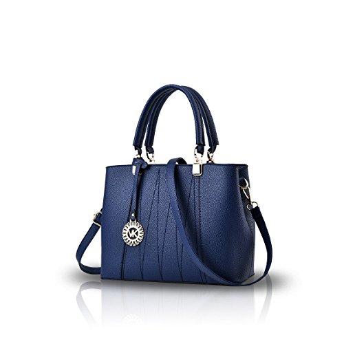 Bilis, Borsa a mano donna, Gray (grigio) - Bilis-599 Blue