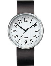 Alessi Unisex-Armbanduhr Analog Automatik Leder AL6003