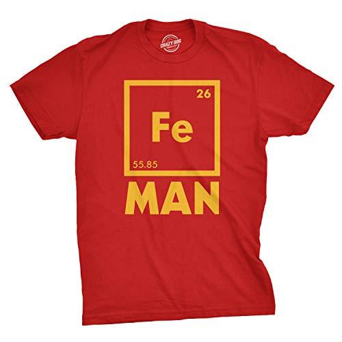 2f3265ccb5b9 Crazy Dog Tshirts - Mens Iron Man Science T Shirt Cool Novelty Funny  Superhero tee For