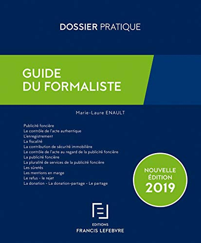 Guide du formaliste par  (Broché - May 9, 2019)