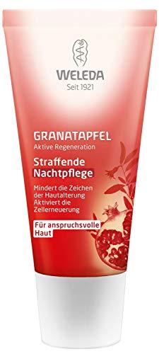 WELEDA Granatapfel straffende Nachtpflege, reichhaltige Naturkosmetik Hautcreme mit aufbauenden Nährstoffen, Gesichtspflege für höhere Elastizität und Spannkraft der Haut (1 x 30 ml) -