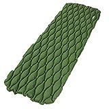Santonliso leichte tragbare aufblasbare Matratze für Reisen und Camping, grün, No Pillow