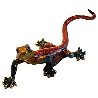 Aljec Small Red Speckled Gecko, Metal 21 x 8 x 7 cm